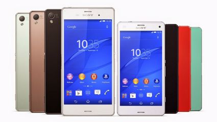 Sony's Xperia Z3 and Xperia Z3 Compact (supplied)