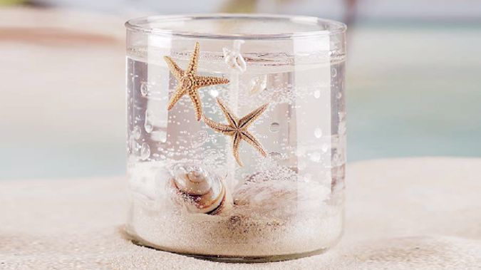 Crafts Seashell Gel Candle