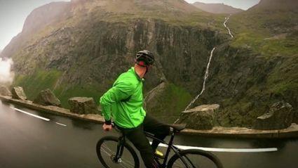 Riding a bike at 80 KPH ...backwards!