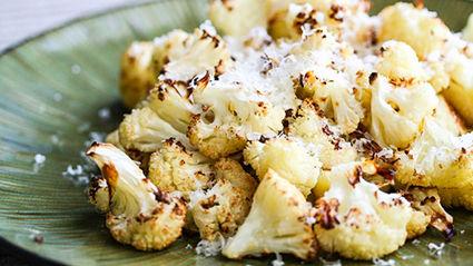 Balsamic and Parmesan Roasted Cauliflower Recipe