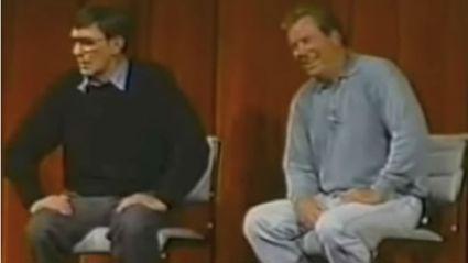 Leonard Nimoy and William Shatner on the Bicycle Prank