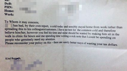 Hilarious Doctors Note Goes Viral