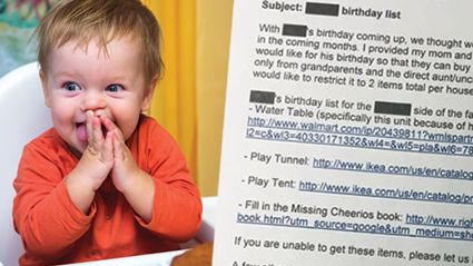 The Outrageous First Birthday Invite That Everyone Is Talking About