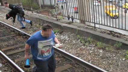 Moment Hero Stranger Jumps Onto Railway Tracks To Save Labrador