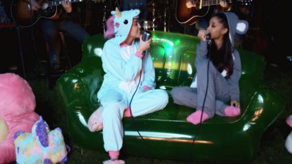 Watch Miley Cyrus and Arianda Grande cover a Crowded House classic