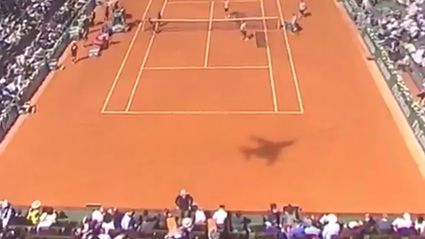 What Was The Mysterious BACKWARD-FLYING Plane Shadow At The French Open?