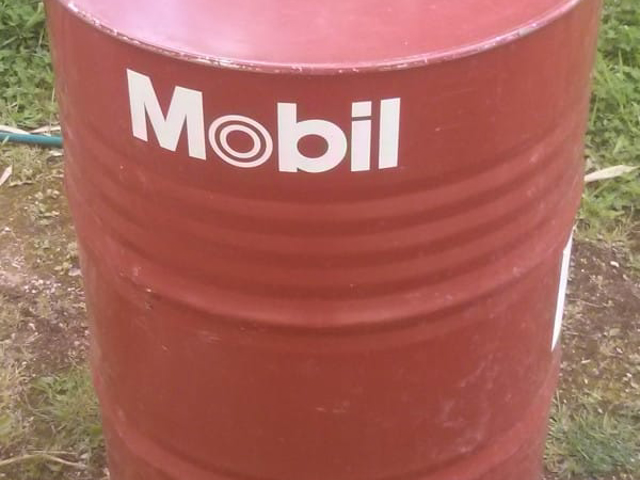 He found an oil barrel and transformed it into something for Motor oil by the barrel