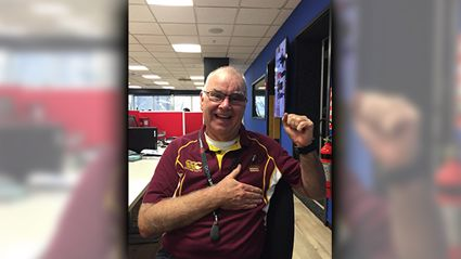 Murray Supporting the Maroons in the big State of Origin battle tonight at Suncorp Stadium
