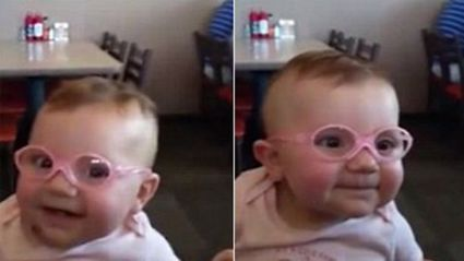 Baby Seeing Properly For The First Time Is Infectious