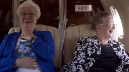 Two Grandmothers Catch A Flight For The First Time