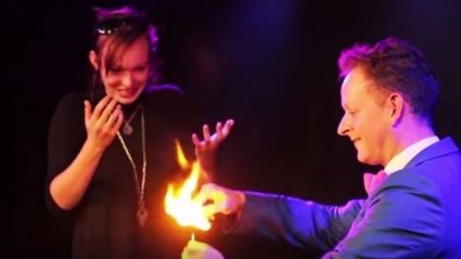 Illusionist  Pops The Question With An Awesome Trick!