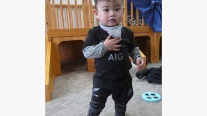 My grandson the All Black
