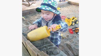 My Grandson in the Sandpit