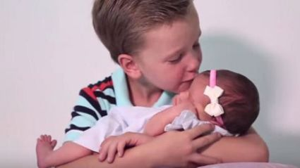 Heartmelting Video: Six Boys and a Baby Girl