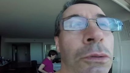 Dad accidently films his dream holiday in selfie mode!