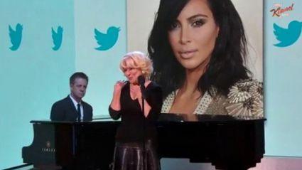 Bette Midler Sings the Tweets of Kim Kardashian