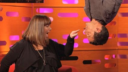Dawn French And Bear Grylls: The Spiderman Kiss