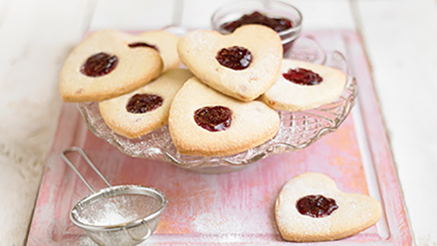 Cherry Shortbread Hearts Recipe