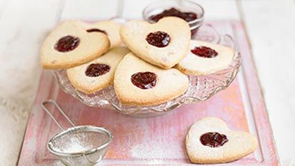 Cherry Shortbread Hearts Recipe