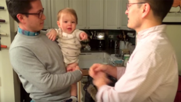 Baby Gets Adorably Confused By His Dad's Twin