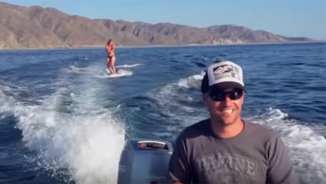 This Wakeboarder Got Some Unexpected Company On The Water - Absolutely Amazing!
