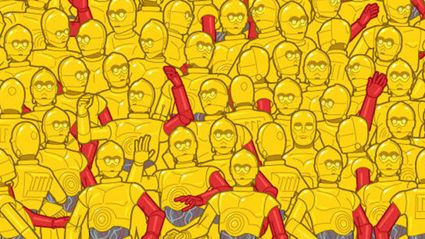Can You Spot The Oscar Trophy Hidden In A Crowd Of C3POs?
