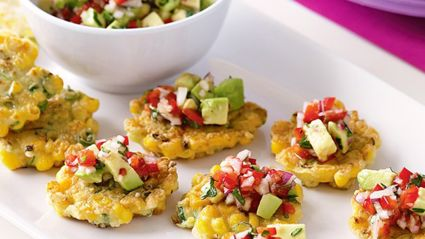 Sweet Corn Fritters With Avocado Salsa Recipe