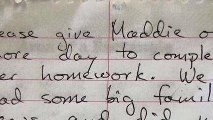 This Viral Note Is The Best Excuse Ever For Not Doing Your Homework