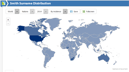 This Map Can Show You Everyone In The World With Your Last Name