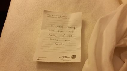 Note Found In Hotel Room Sheets Goes Viral