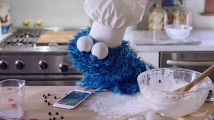 Cookie Monster's iPhone Commercial