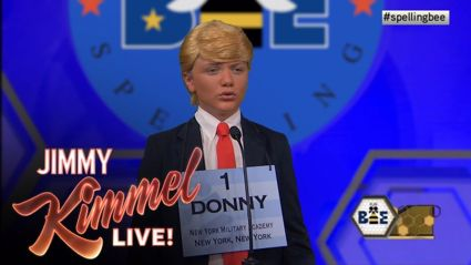 What if Donald Trump took part in the Scripps Spelling Bee?