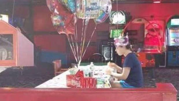 The heartbreaking photo from Sorenson's birthday last year. Photo / Facebook