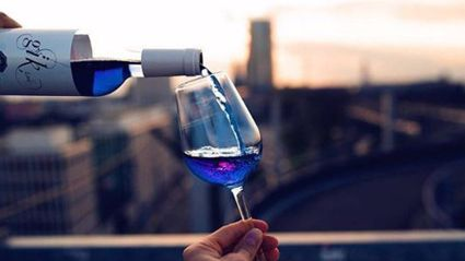 There's Not Just Red Or White Anymore... Now There's Blue Wine!