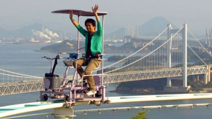 Terrifying Pedal-Powered Roller Coaster