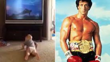 Baby Works Out Like Rocky