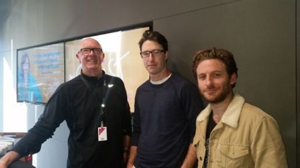 Hillary with Andrew Munro and Dean O'Gorman.