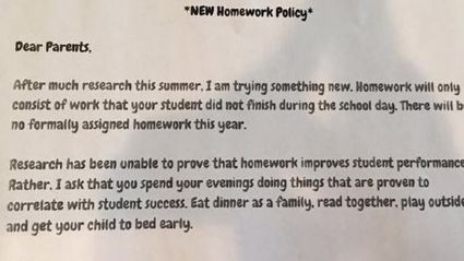 We Love The Reason Why This Teacher Won't Give Out Homework