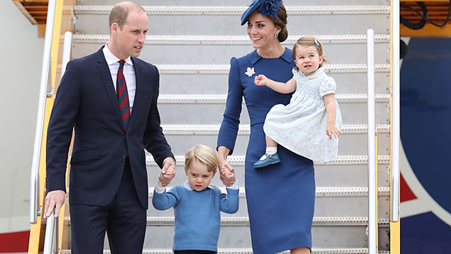George And Charlotte Steal The Show As They Arrive In Canada