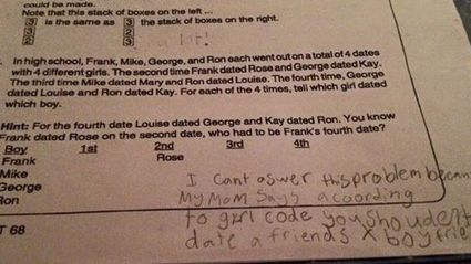 9-Year-Old's 'Girl Code' Answer To Math Problem Goes Viral