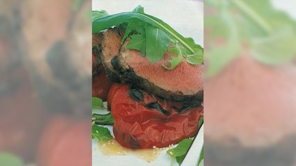 Allyson Gofton - Beef fillet with mint salad and miso dressing