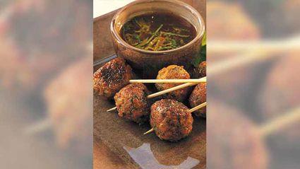 Allyson Gofton - Mini thai lamb meatballs with mint sauce