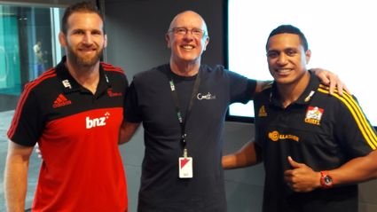 Brian Kelly talks Super Rugby with Kieran Reed and Chiefs Glen Fisiiahi.