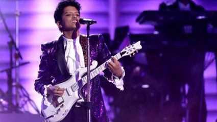 Bruno Mars Grammy Awards tribute to Prince