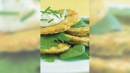 Allyson Gofton - Courgette Fritters With Wasabi Mayonnaise
