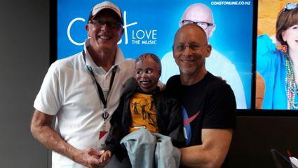 David Strassman and his friend Chuck Wood visit Coast.