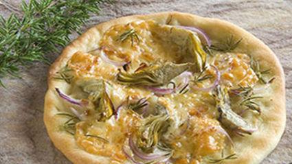 Allyson Gofton - Provolone and artichoke pizza