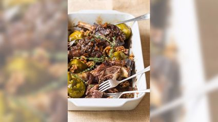 Allyson Gofton - Pulled Lamb Shanks with Figs and Walnuts
