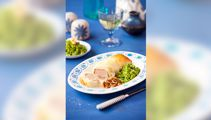 Allyson Gofton - Lamb and blue cheese filo rolls with crushed buttered peas