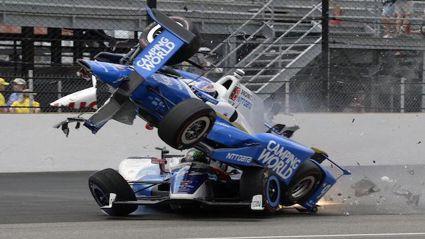 Scott Dixon in spectacular Indy 500 crash